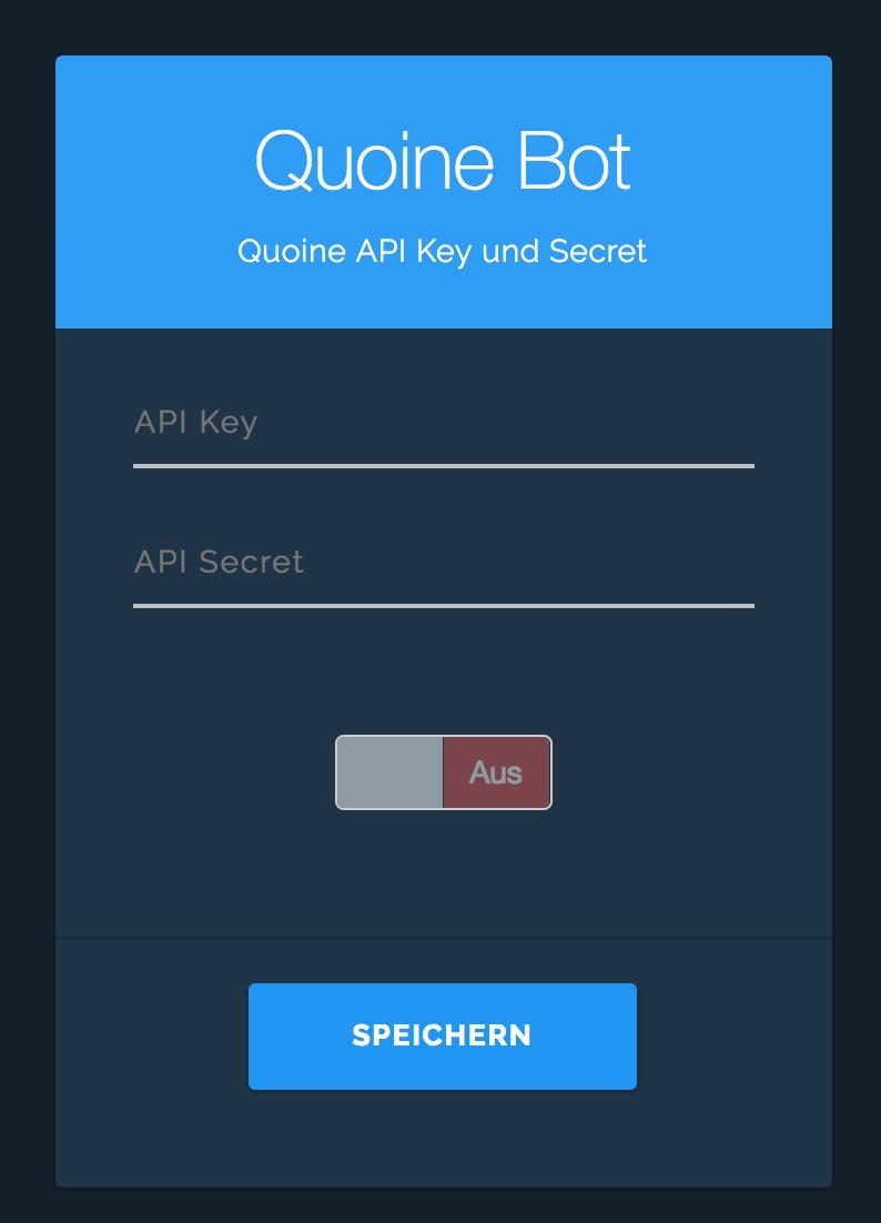 Coinlend - Quoinex Setup